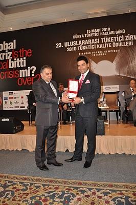 Arif Kerem Göğüş 23. Uluslararası Tüketici Zirvesi Ödül Töreni Katılımı