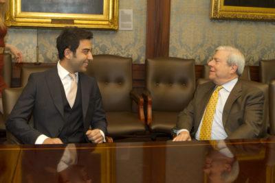 Arif Kerem Göğüş Brooklyn Belediye Başkanı Marty Markowitz ile Birlikte