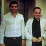 Arif Kerem Göğüş ve Ekonomi Profesörü Şükrü Kızılot