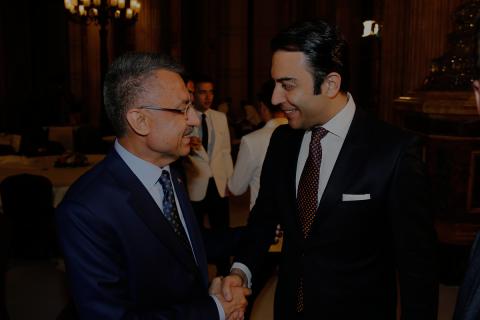 Arif Kerem Göğüş ve Cumhurbaşkanı Yardımcısı Fuat Oktay