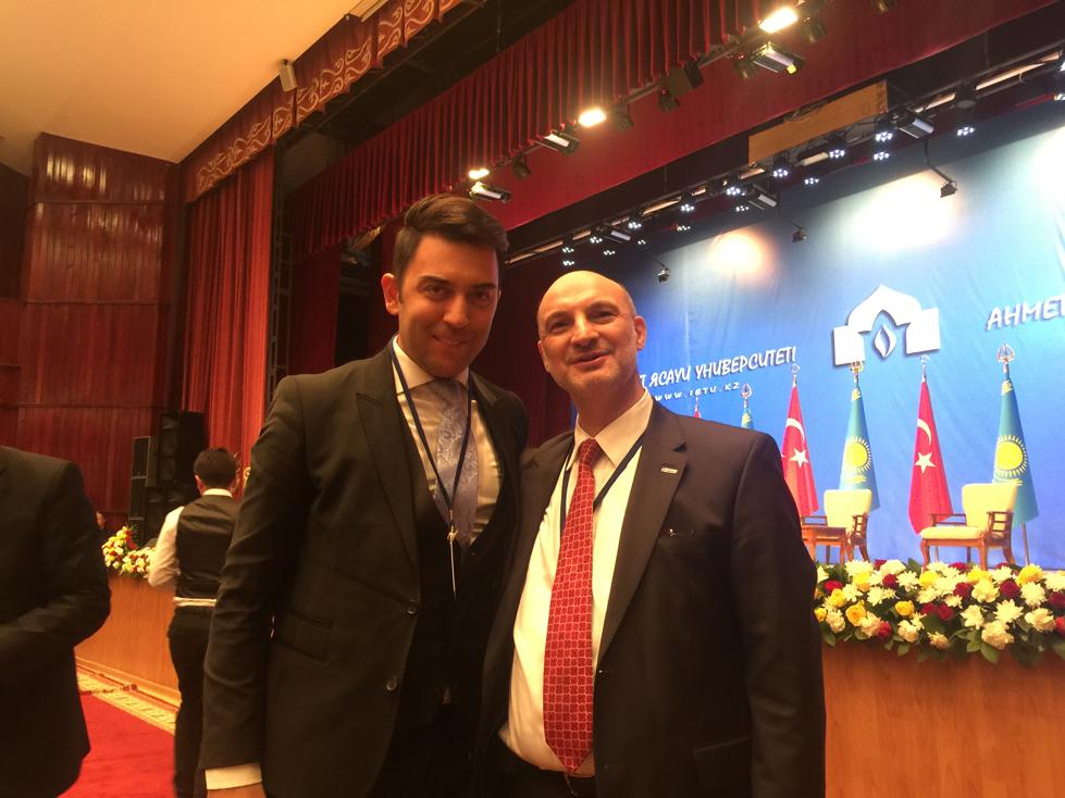 Arif Kerem Göğüş Hoca Ahmet Yesevi Üniversitesi İş Dünyası Toplantısı Katılımı