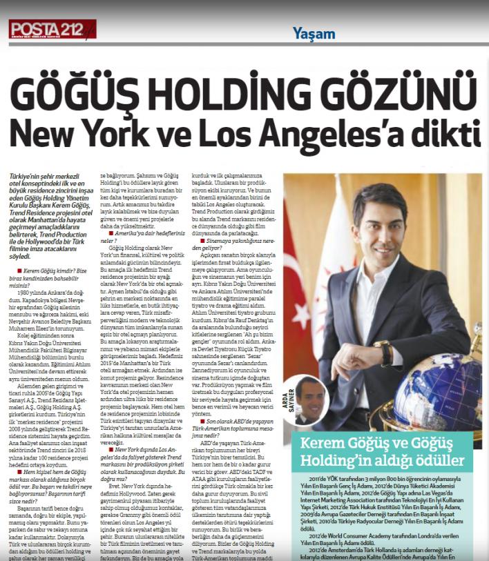 ABD New York Posta 212 Gazetesi Röportajı