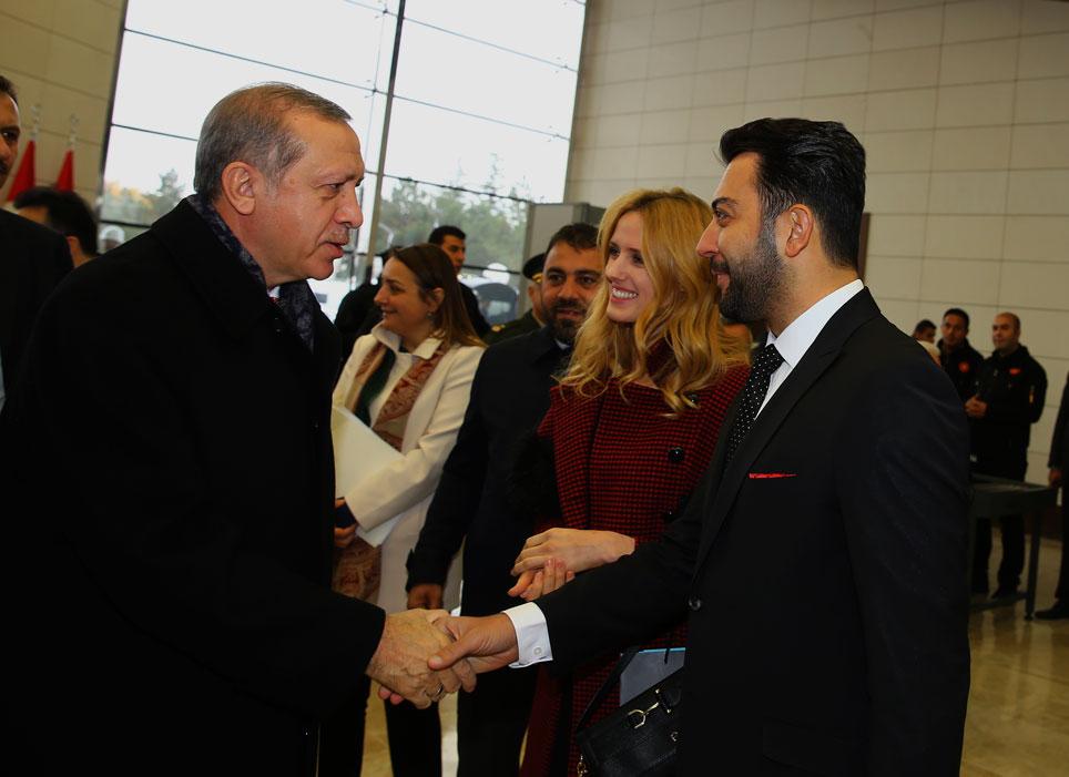 Arif Kerem Göğüş ve Recep Tayyip Erdoğan Esenboğa Havalimanı
